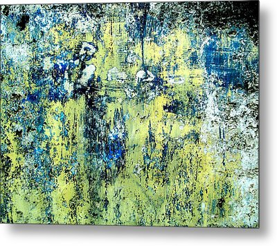 Metal Print featuring the digital art Wall Abstract 27 by Maria Huntley