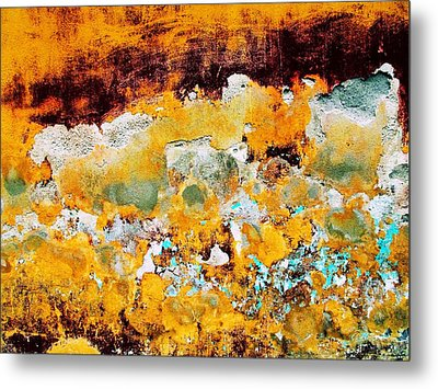 Metal Print featuring the digital art Wall Abstract 28 by Maria Huntley