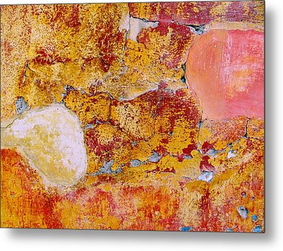 Metal Print featuring the digital art Wall Abstract 3 by Maria Huntley