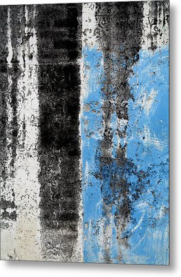 Metal Print featuring the digital art Wall Abstract 34 by Maria Huntley