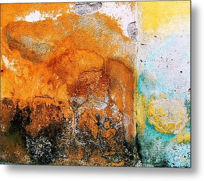 Metal Print featuring the digital art Wall Abstract 40 by Maria Huntley