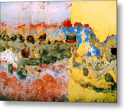 Metal Print featuring the digital art Wall Abstract 7 by Maria Huntley