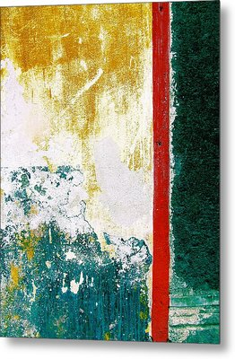 Metal Print featuring the digital art Wall Abstract 71 by Maria Huntley