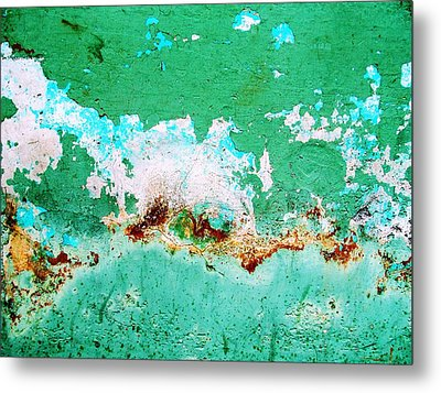 Wall Abstract 77 Metal Print by Maria Huntley