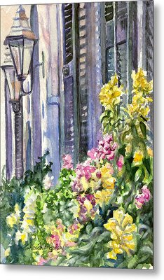 Wall Flowers Metal Print by Alice Grimsley