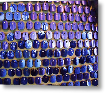 Wall Of Blue Metal Print