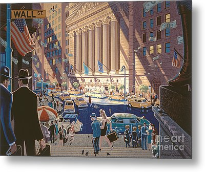 Wall Street Metal Print by Michael Young