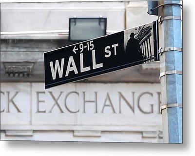 Wall Street New York Stock Exchange Metal Print