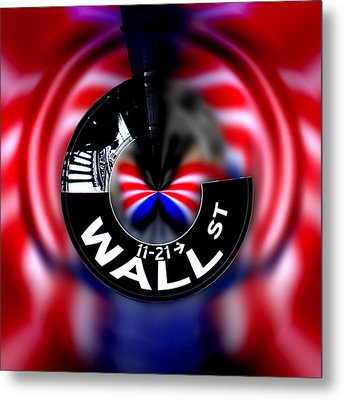 Wall Street Sign Circagraph Metal Print by Az Jackson