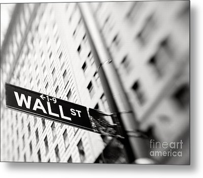 Wall Street Street Sign Metal Print