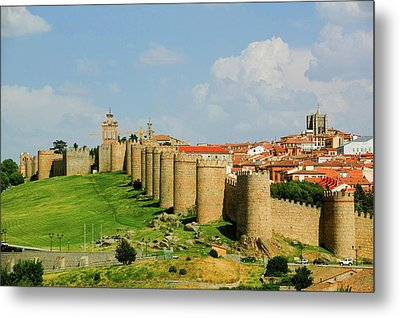 Walled City From 1000 A.d. Surrounds Metal Print