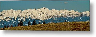 Wallowa Mountains Oregon Metal Print by Ed  Riche