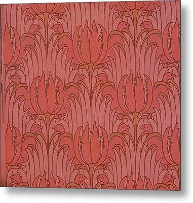 Wallpaper Design Metal Print by Victorian Voysey
