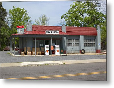 Wallys Service Station Mayberry Metal Print by Bob Pardue