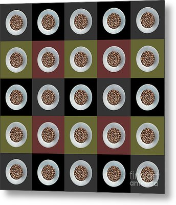 Walnut 5x5 Collage 2 Metal Print