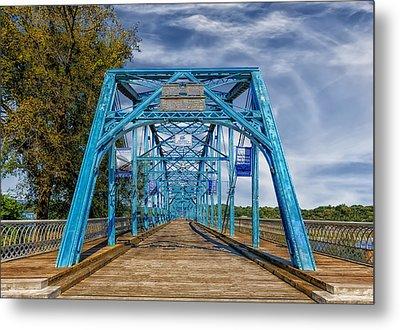 Walnut Street Bridge - 1890 - Chattanooga Metal Print by Frank J Benz