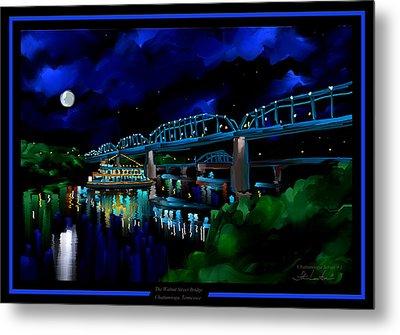 Walnut Street Bridge - Chattanooga Landmark Series - # 1 Metal Print