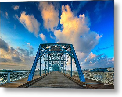 Walnut Street Walking Bridge Metal Print