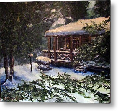 Walsh Cabin On Cranberry Lake Metal Print
