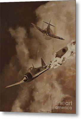 Metal Print featuring the painting Walsh Scores Another - Grisaille by Stephen Roberson