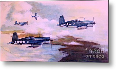 Metal Print featuring the painting Walsh's Flight Color Study by Stephen Roberson