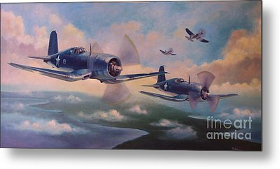 Metal Print featuring the painting Walsh's Flight by Stephen Roberson