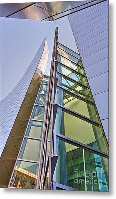 Walt Disney Concert Hall Vertical Exterior Building Frank Gehry Architect 6 Metal Print by David Zanzinger