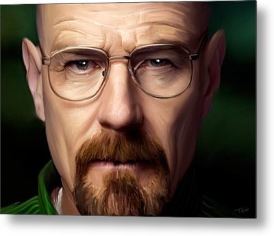 Walter White - Color Metal Print by Paul Tagliamonte