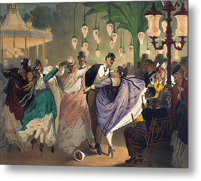 Waltz At The Bal Mabille  Metal Print