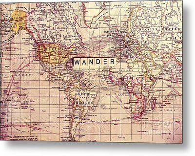 Wander Metal Print by Sylvia Cook
