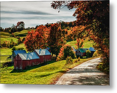Wandering Down The Road Metal Print by Jeff Folger