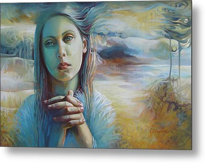 Wandering With Thoughts Metal Print by Elena Oleniuc