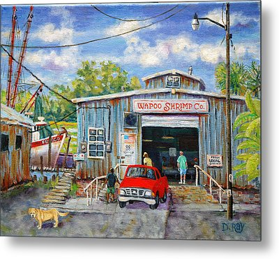 Wapoo Shrimp Company Metal Print by Dwain Ray