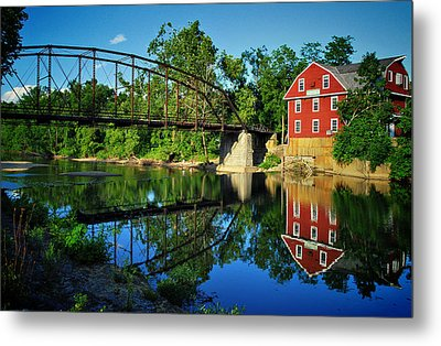War Eagle Mill And Bridge Metal Print by Gregory Ballos