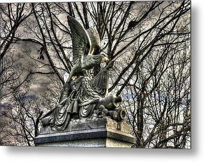 War Eagles - 88th Pa Volunteer Infantry Cameron Light Guard-d1 Oak Hill Autumn Gettysburg Metal Print by Michael Mazaika