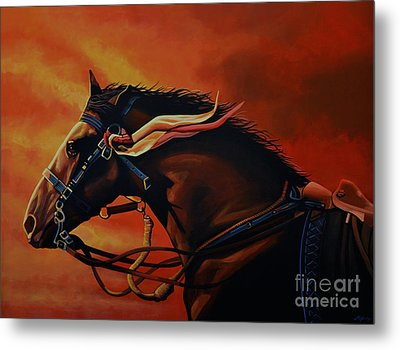 War Horse Joey  Metal Print by Paul Meijering