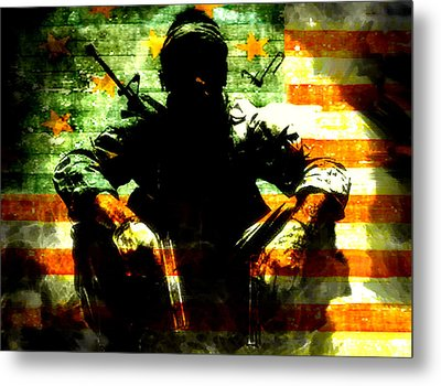 Metal Print featuring the painting War Is Hell by Brian Reaves