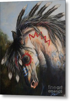 War Pony #3 Chieftan Metal Print by Amanda Hukill