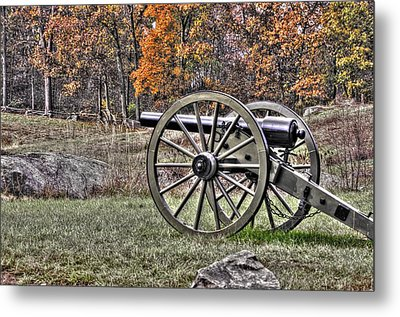 Metal Print featuring the photograph War Thunder - 4th New York Independent Battery Crawford Avenue Gettysburg by Michael Mazaika