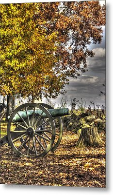 Metal Print featuring the photograph War Thunder - Aonv The Purcell Artillery Mcgraw's Battery-a1 West Confederate Ave Gettysburg by Michael Mazaika