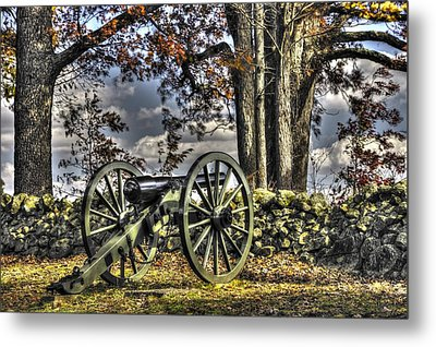 Metal Print featuring the photograph War Thunder - Lane's Battalion Ross's Battery-a1 West Confederate Ave Gettysburg by Michael Mazaika
