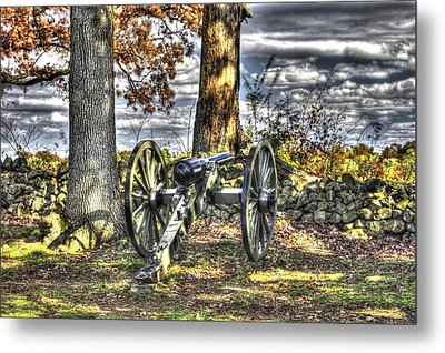 Metal Print featuring the photograph War Thunder - Lane's Battalion Ross's Battery-b2 West Confederate Ave Gettysburg by Michael Mazaika