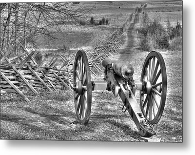 Metal Print featuring the photograph War Thunder - Poague's Battalion Brooke's Va Battery West Confederate Avenue Gettysburg by Michael Mazaika