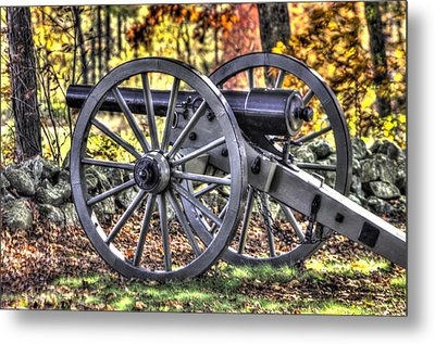 Metal Print featuring the photograph War Thunder - The Albemarle Va Artillery Wyatt's Battery-b2 West Confederate Ave Gettysburg by Michael Mazaika