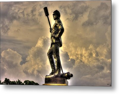 War Thunder - The Clouds Of War 1b - 4th New York Independent Battery Above Devils Den Gettysburg Metal Print by Michael Mazaika
