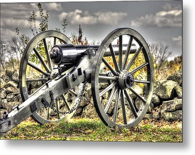Metal Print featuring the photograph War Thunder - The Letcher Artillery Brander's Battery West Confederate Ave Gettysburg by Michael Mazaika