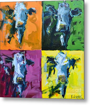 Warhol Cows Metal Print by Robert Joyner