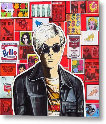 Metal Print featuring the mixed media Warhol by Joseph Sonday