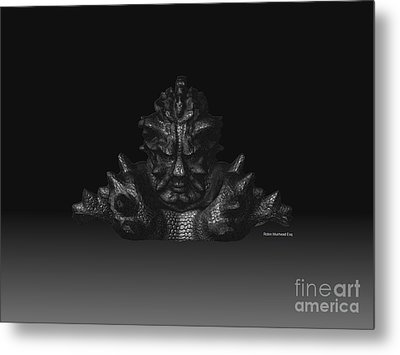 Metal Print featuring the sculpture Warlord by R Muirhead Art