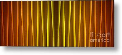 Warm Curtain Metal Print